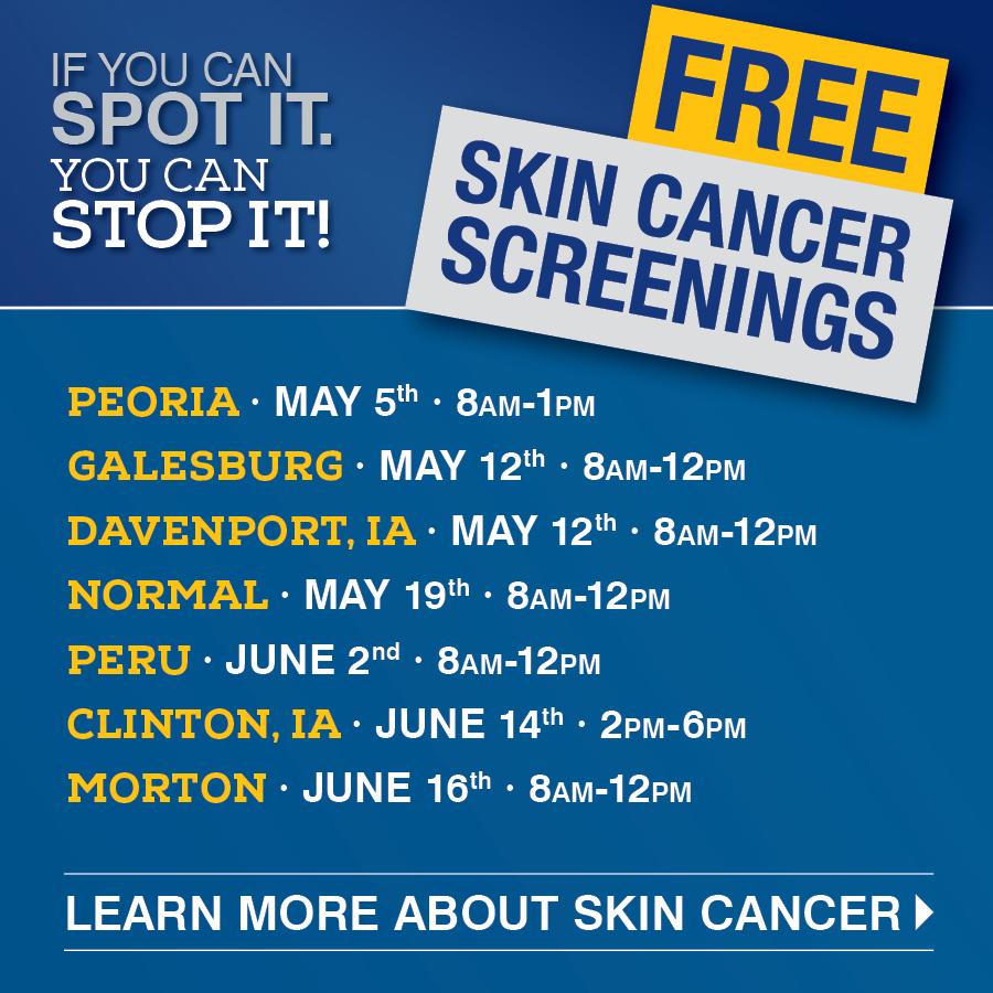 Skin Cancer Screening Dates